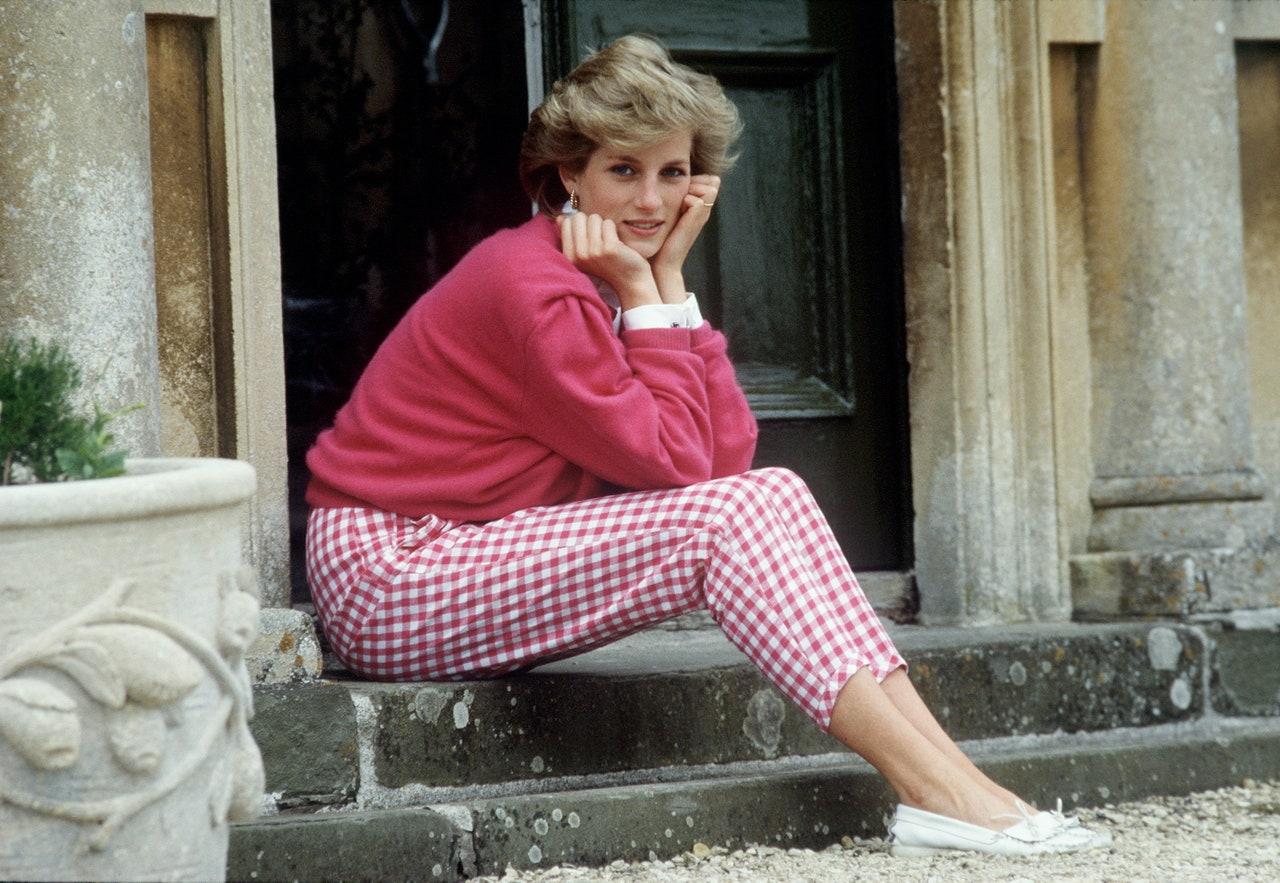 Lady Diana con i pantaloni vichy