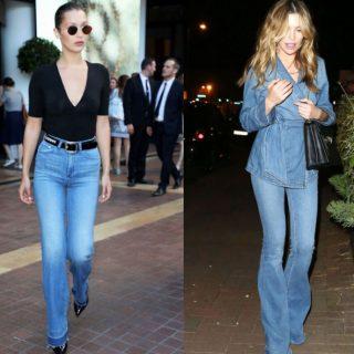 Jeans a zampa, gli outfit più belli