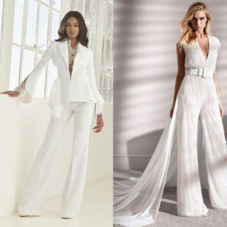 Abiti da sposa con pantaloni, per una sposa moderna