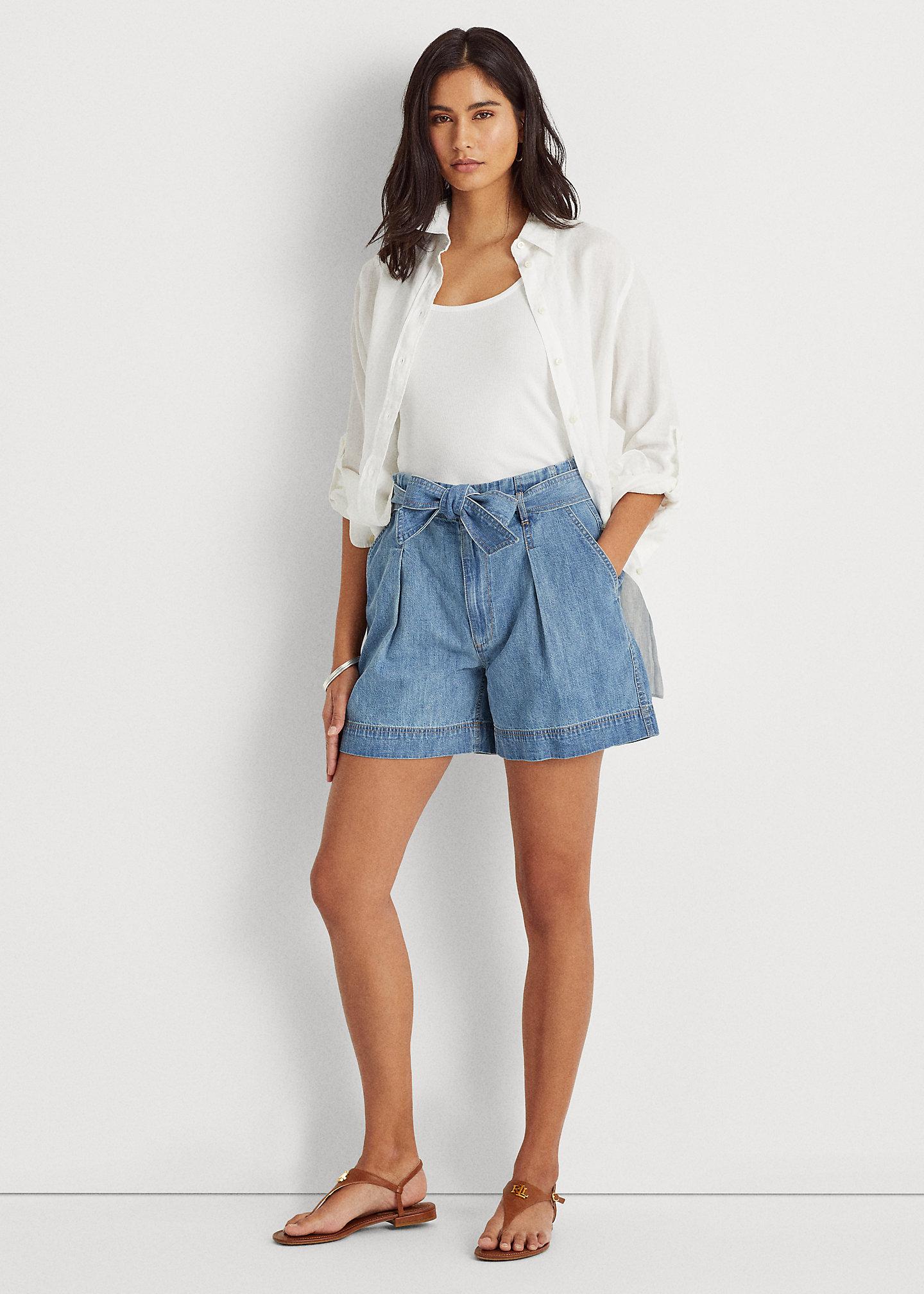 pantaloncini di jeans ralph lauren