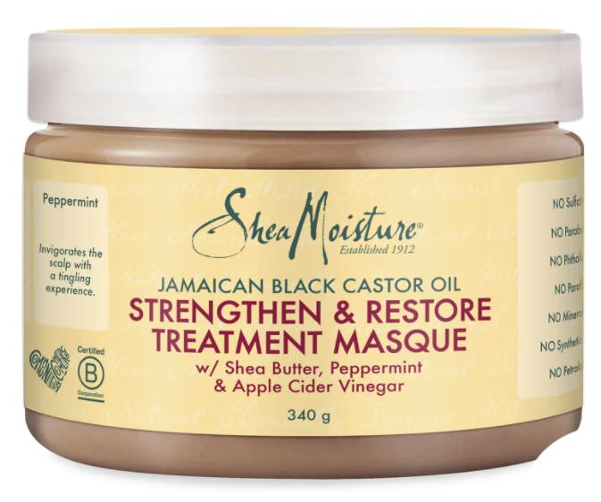 Shea Moisture trattamento in maschera rinforzante e riparatrice all'olio di ricino nero giamaicano