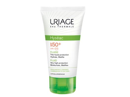 Uriage Hyséac Fluide SPF50+ protezione solare per pelli miste e grasse