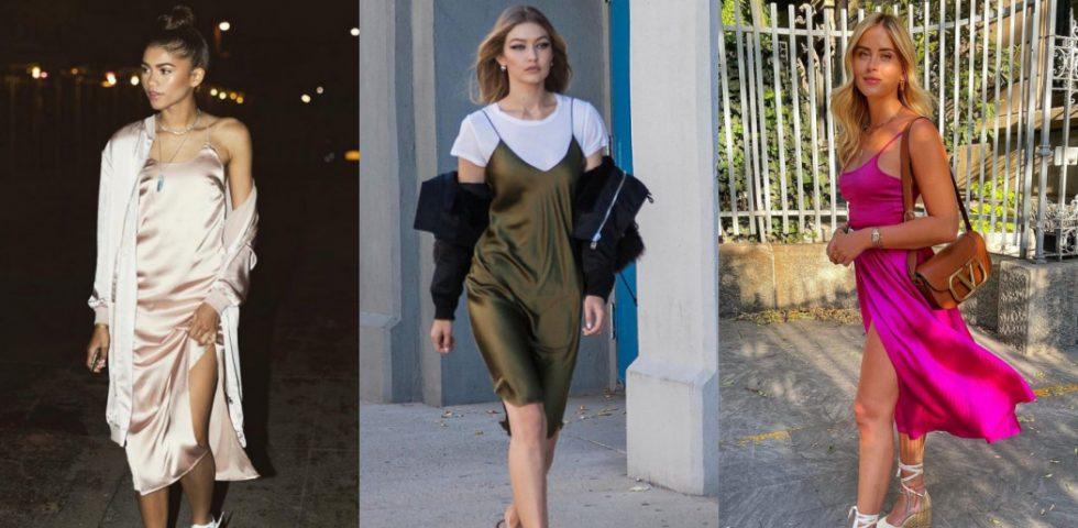 Slip dress: come abbinare l'abito sottoveste