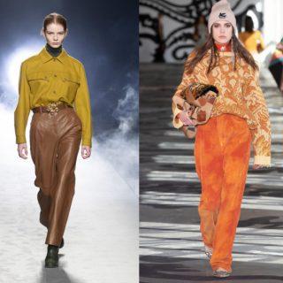 In pelle, velluto e a vita alta: le tendenze pantaloni