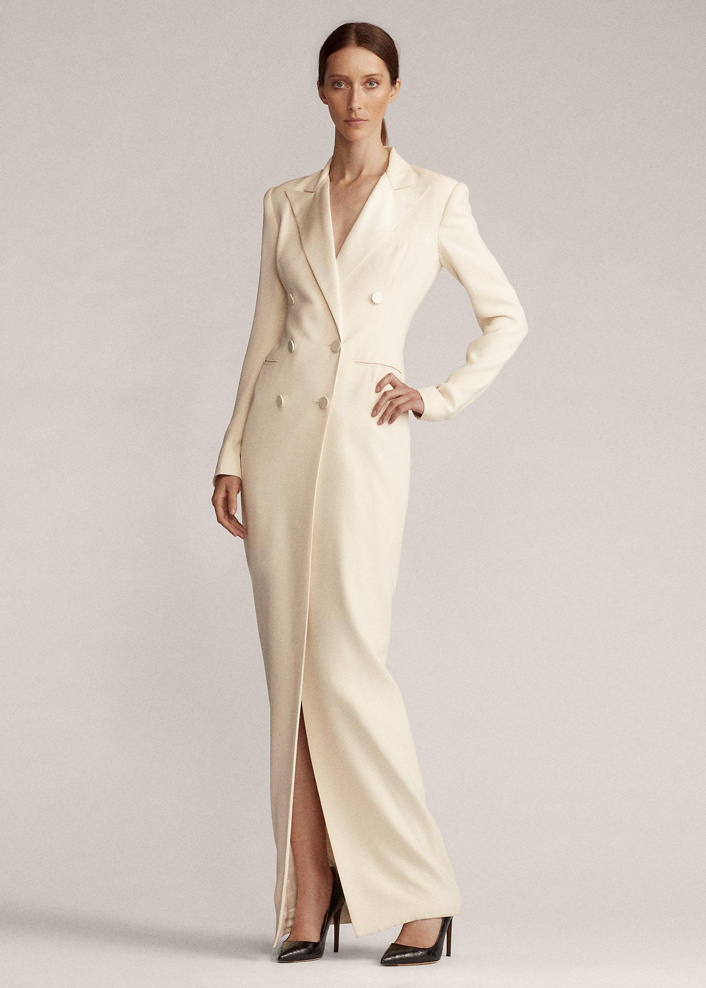 abito bianco ralph laurent