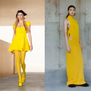 Vestiti gialli, tendenza dell'inverno 2022