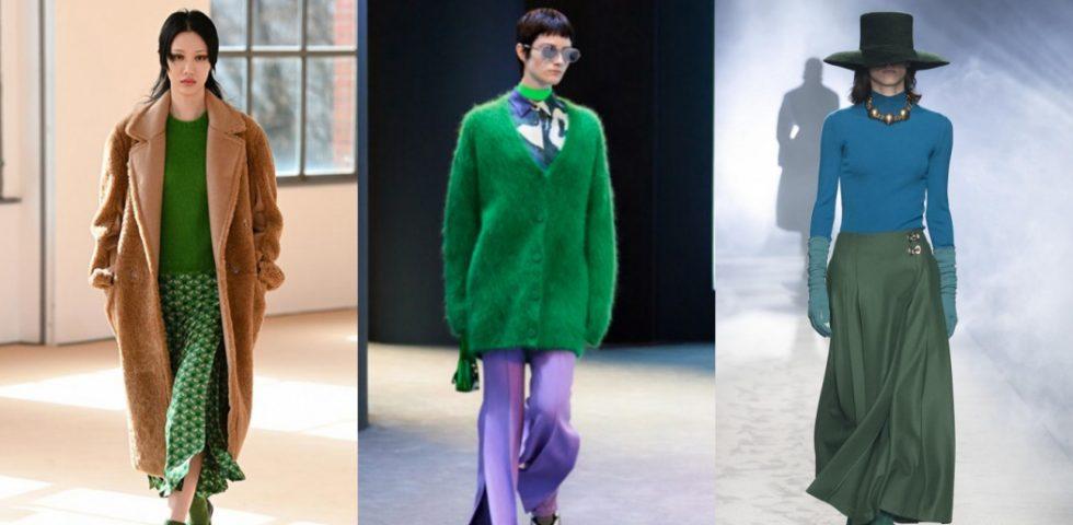 Verde, il colore di tendenza della moda Autunno-Inverno 2021/2022