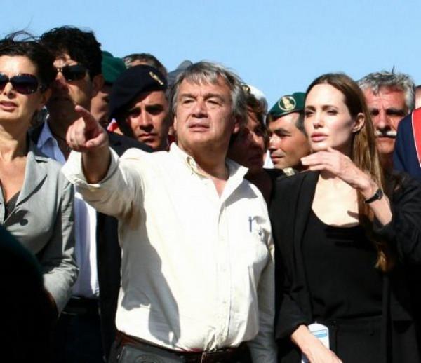 Angelina Jolie a Lampedusa 2