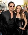 Angelina e l'attuale compagno Brad Pitt