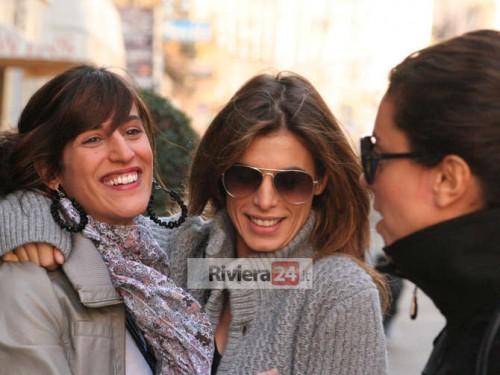 Elisabetta Canalis a spasso per Sanremo 2