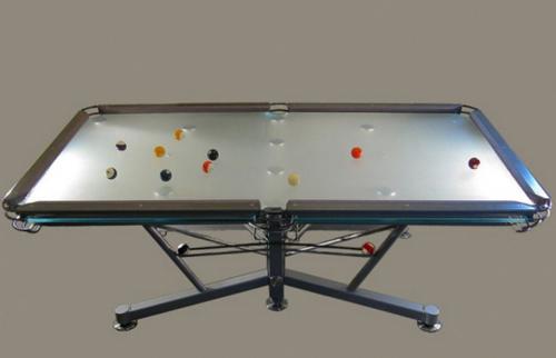 G1 il tavolo da biliardo in vetro diredonna - Costruire tavolo da biliardo ...