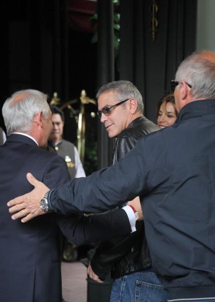 George Clooney e Elisabetta Canalis a Milano 2