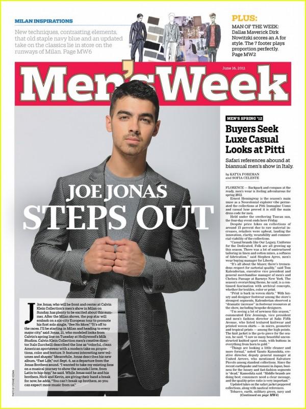 Joe Jonas in Calvin Klein 2