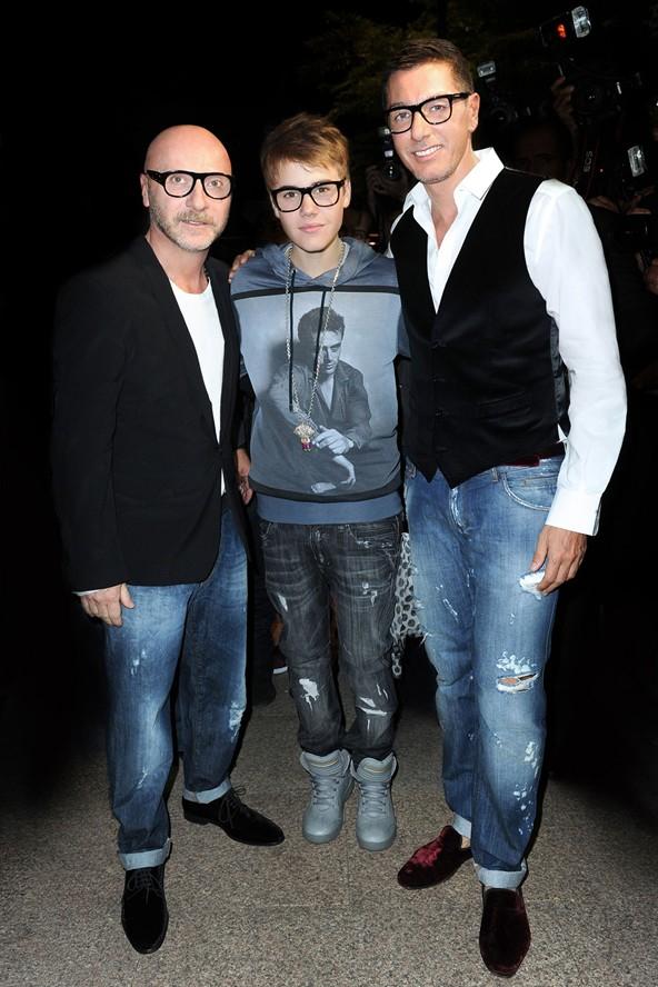 Justin Bieber al Party di D&G 2