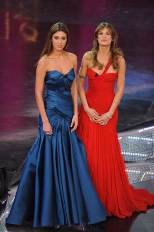 Moda a Sanermo: Rodriguez e Canalis - prima sera 2