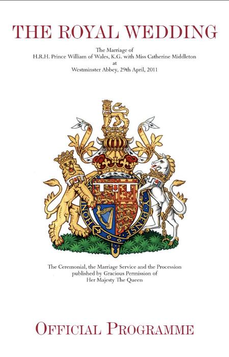 Principe William e Kate: il programma delle nozze 2