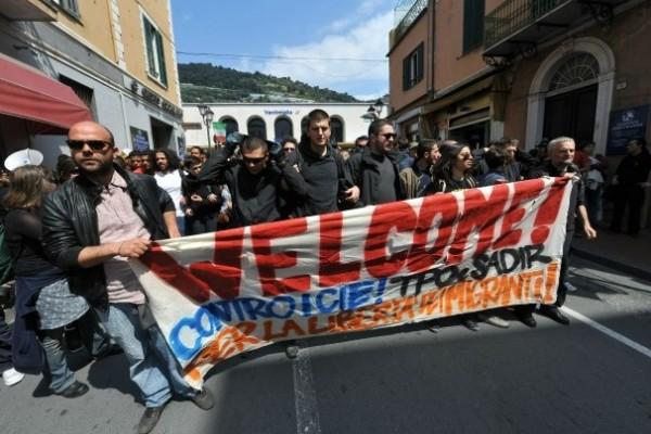 Proteste alla frontiera francese 2