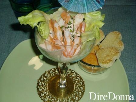 La coppa di cocktail di Gamberi