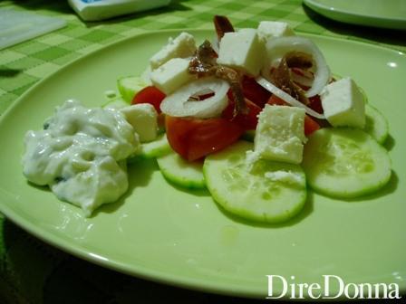 Insalata greca senza salsa