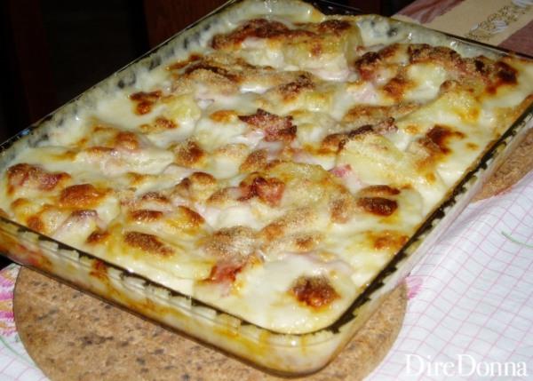 La lasagnetta pronta per essere impiattata
