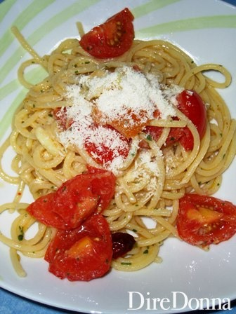 spaghetti carrettiera con formaggio
