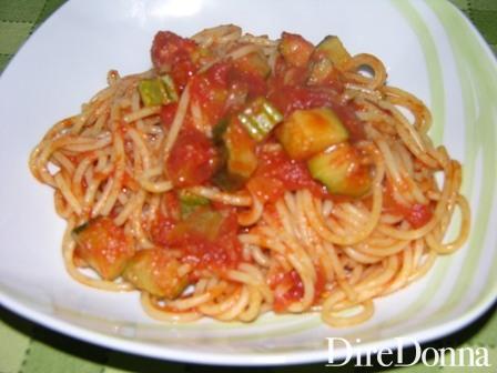 Penne Zucchine e Pomodoro