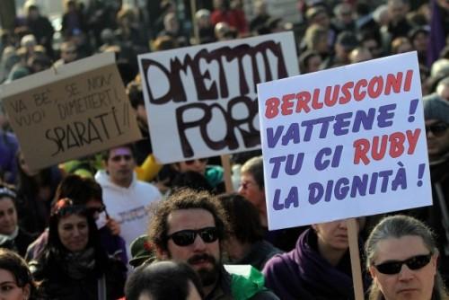 Silvio Berlusconi e le proteste 1
