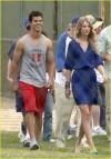 Taylor Lautner e Taylor Swift (luglio 2009)