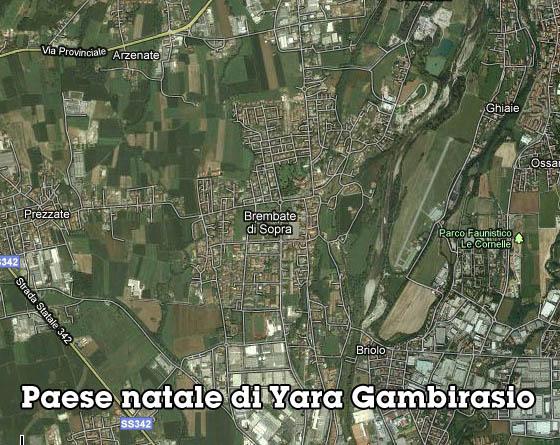 Yara Gambirasio, i luoghi 2
